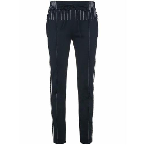 Imagen principal de producto de Valentino pantalones de chándal con costuras en contraste - Azul - Valentino