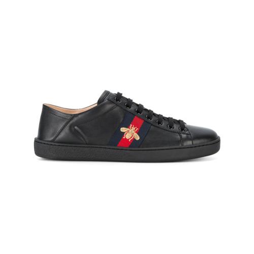 Imagen principal de producto de Gucci zapatillas Ace con motivo de abeja - Negro - Gucci