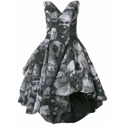 Imagen principal de producto de Vivienne Westwood vestido abombado estampado - Negro - Vivienne Westwood