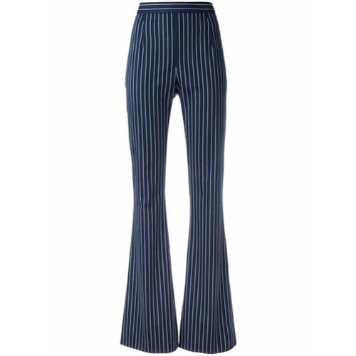 Imagen principal de producto de Pierre Balmain pantalones de talle alto a rayas - Azul - Pierre Balmain
