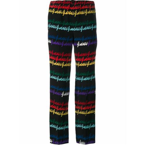 Imagen principal de producto de Gucci pantalones pijama con estampado del logo - Negro - Gucci