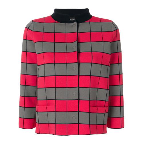 Imagen principal de producto de Emporio Armani cropped checkerboard jacket - Rojo - Emporio Armani