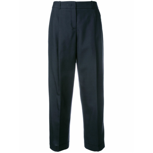 Imagen principal de producto de Jil Sander Navy pantalones capri con pinzas - Azul - Jil Sander Navy