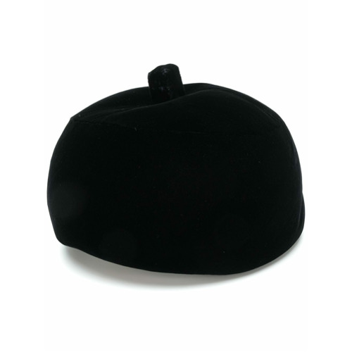 Balenciaga Vintage gorro de terciopelo - Negro
