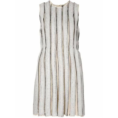 Imagen principal de producto de Proenza Schouler vestido recto con apliques verticales - Blanco - Proenza Schouler