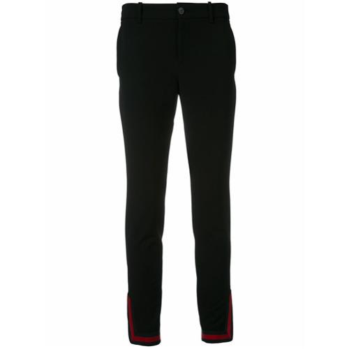 Imagen principal de producto de Gucci pantalones con cremallera en los tobillos Web - Negro - Gucci