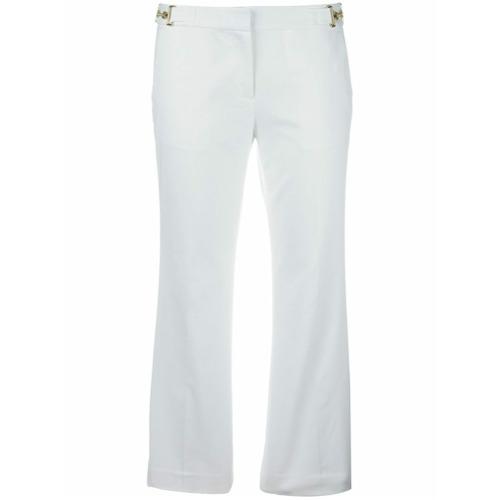 Imagen principal de producto de Michael Michael Kors pantalones capri acampanados - Blanco - MICHAEL Michael Kors