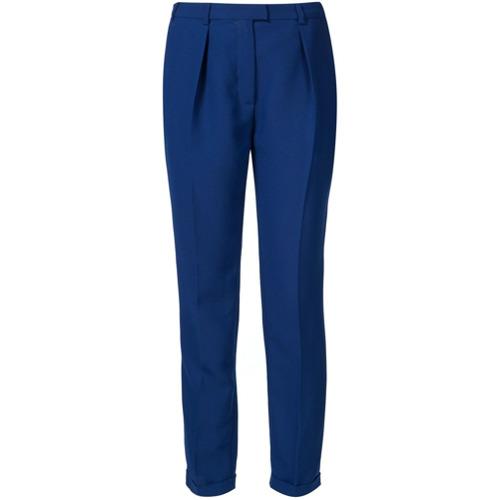Imagen principal de producto de Carven pantalones con detalle de pliegue - Azul - Carven