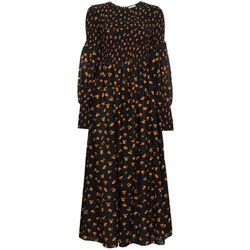 Imagen principal de producto de Ganni vestido largo ahumado estampado Beacon - Negro - Ganni