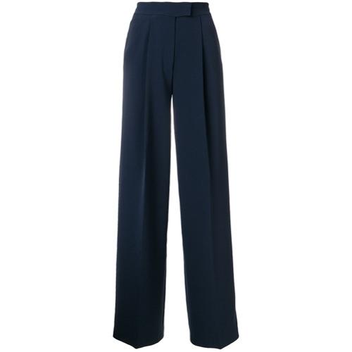 Imagen principal de producto de Tommy Hilfiger pantalones de vestir de talle alto - Azul - Tommy Hilfiger
