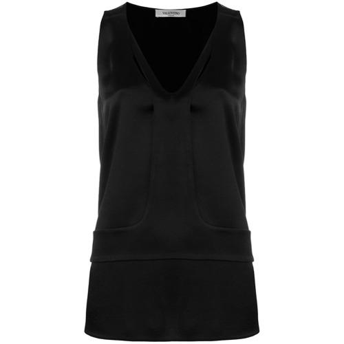 Imagen principal de producto de Valentino hammered satin top - Negro - Valentino