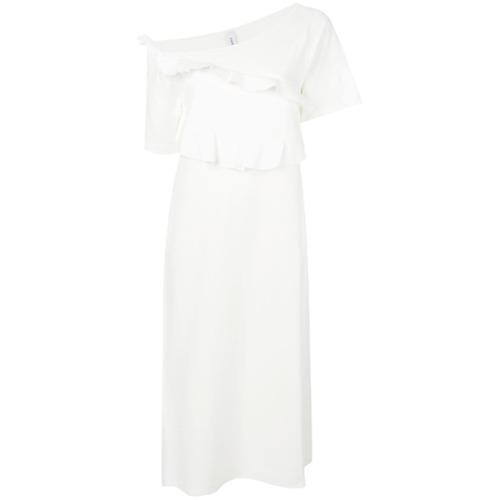 Imagen principal de producto de Carven vestido con volantes y hombro descubierto - Blanco - Carven