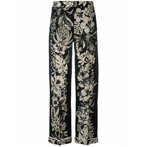 Imagen principal de producto de Valentino pantalones con estampado floral - Negro - Valentino