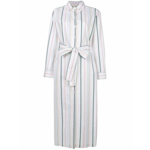 Imagen principal de producto de Asceno striped shirt dress - Blanco - ASCENO