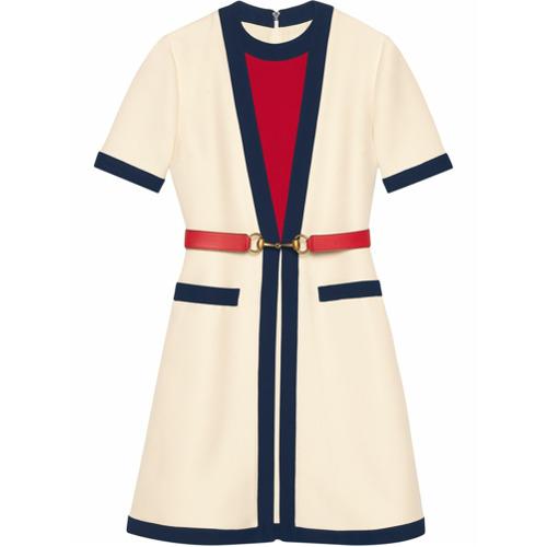 Imagen principal de producto de Gucci vestido con cinturón - Blanco - Gucci