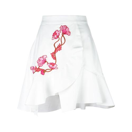 Imagen principal de producto de Carven falda cruzada bordada - Blanco - Carven