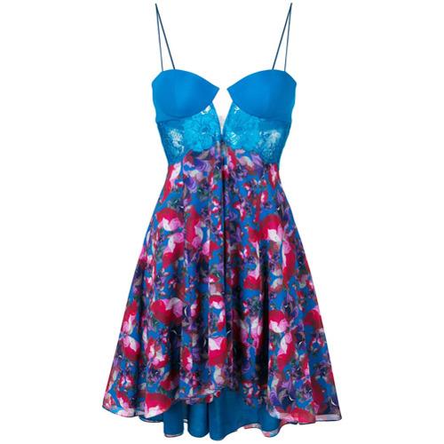 Imagen principal de producto de La Perla vestido de cóctel con panel de encaje - Azul - La Perla