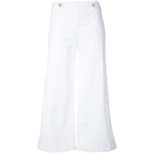 Imagen principal de producto de Love Moschino pantalones capri de corte ancho - Blanco - Moschino