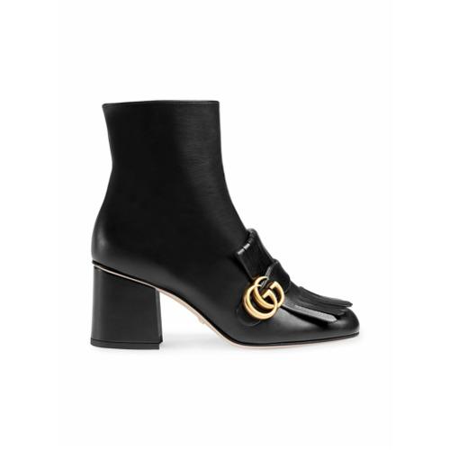 Imagen principal de producto de Gucci botines de cuero Marmont 70 - Negro - Gucci