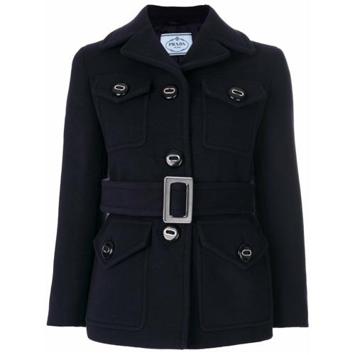 Imagen principal de producto de Prada abrigo con cinturón - Azul - Prada