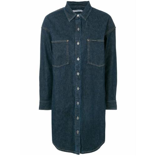 Imagen principal de producto de Calvin Klein Jeans vestido camisero vaquero - Azul - Calvin Klein