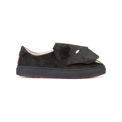 Imagen principal de producto de Vivienne Westwood zapatillas con motivo de oso - Negro - Vivienne Westwood