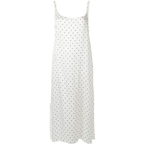 Imagen principal de producto de Asceno vestido con motivo de lunares - Blanco - ASCENO