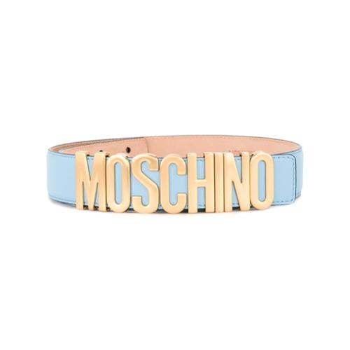 Imagen principal de producto de Moschino cinturón con placa del logo - Azul - Moschino
