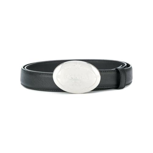 Imagen principal de producto de Prada cinturón con hebilla ovalada - Negro - Prada