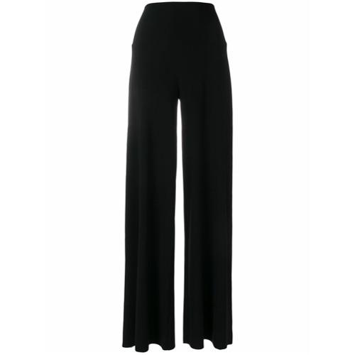 Imagen principal de producto de Norma Kamali pantalones anchos con talle alto - Negro - Norma Kamali