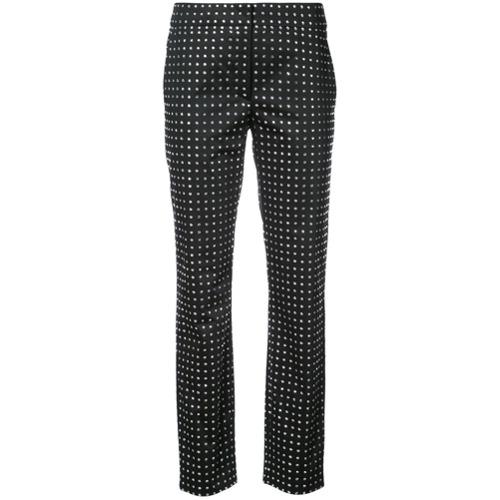 Imagen principal de producto de Moschino pantalones de pinzas con cristales de Swarovski - Negro - Moschino