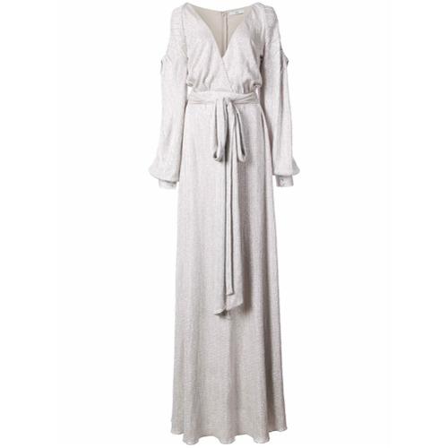 Imagen principal de producto de Zac Zac Posen vestido de fiesta con nudo en la cintura Jeanne - Blanco - ZAC Zac Posen