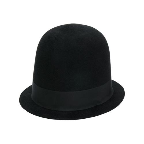 Gucci sombrero de fieltro de conejo - Negro