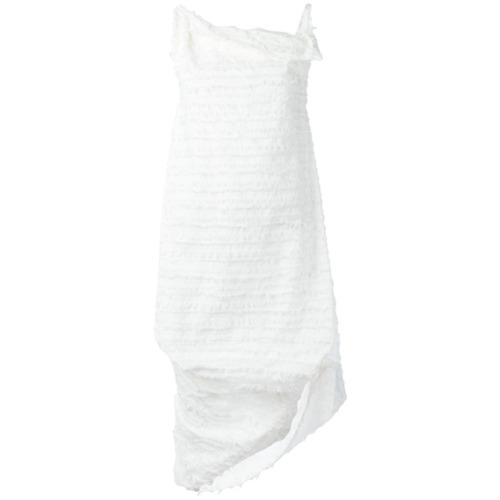 Imagen principal de producto de Vivienne Westwood Anglomania vestido asimétrico con flecos - Blanco - Vivienne Westwood Anglomania