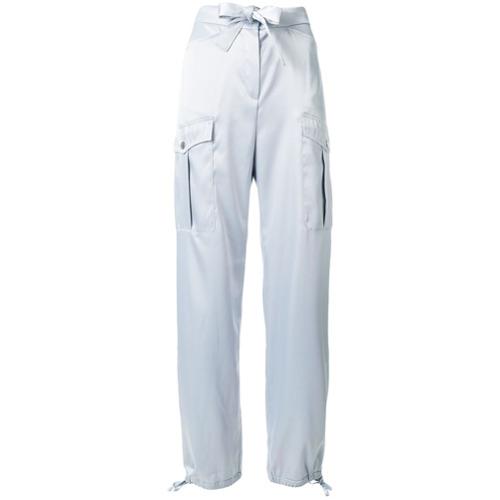 Imagen principal de producto de Karl Lagerfeld pantalones estilo cargo con detalle de lazo - Gris - KARL LAGERFELD