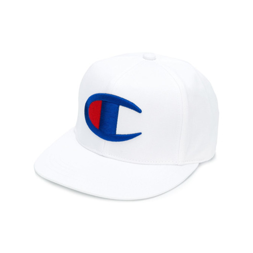 Champion logo embroidered cap - Blanco