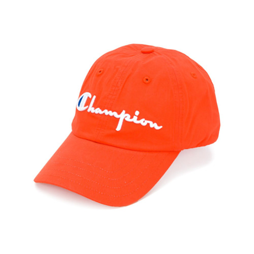 Champion logo embroidered cap - Amarillo Y Naranja