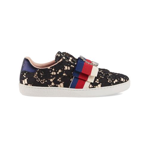 Imagen principal de producto de Gucci zapatillas Ace de encaje - Negro - Gucci