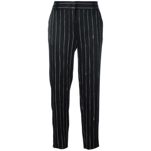 Imagen principal de producto de DKNY pantalones satinados con rayas diplomáticas - Negro - DKNY