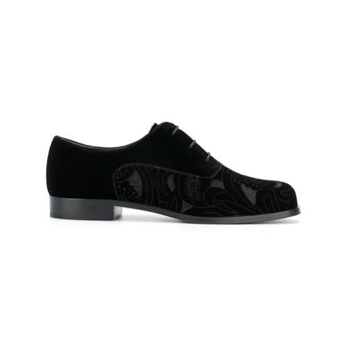 Imagen principal de producto de Emporio Armani zapatos con cordones y detalle de aberturas floral - Negro - Emporio Armani