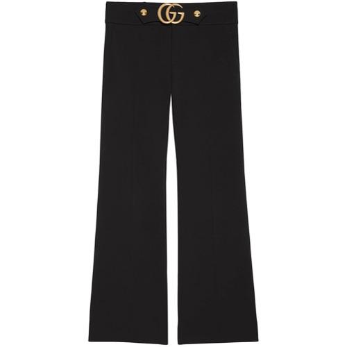 Imagen principal de producto de Gucci pantalones tobilleros con doble G - Negro - Gucci