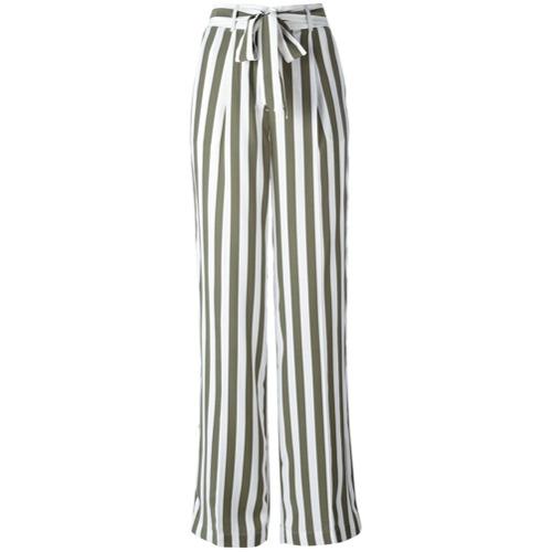 Imagen principal de producto de Equipment pantalones de talle alto a rayas - Verde - Equipment