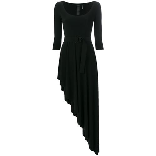 Imagen principal de producto de Norma Kamali vestido con dobladillo asimétrico - Negro - Norma Kamali