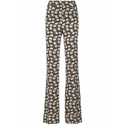 Imagen principal de producto de Prada pantalones de talle alto estampados - Negro - Prada