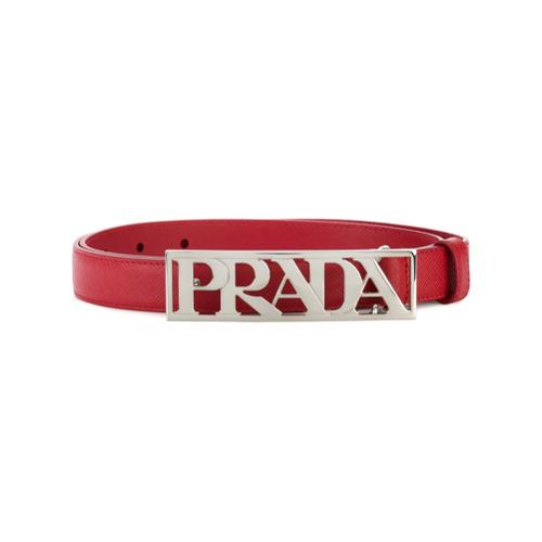 Imagen principal de producto de Prada cinturón con logo - Rojo - Prada