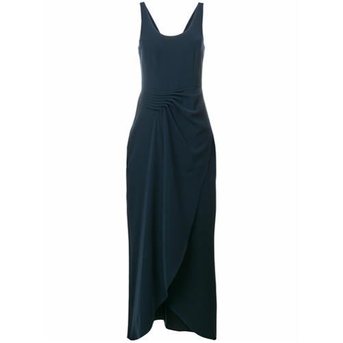 Imagen principal de producto de Emporio Armani vestido de fiesta asimétrico con pliegues en la cintura - Azul - Emporio Armani