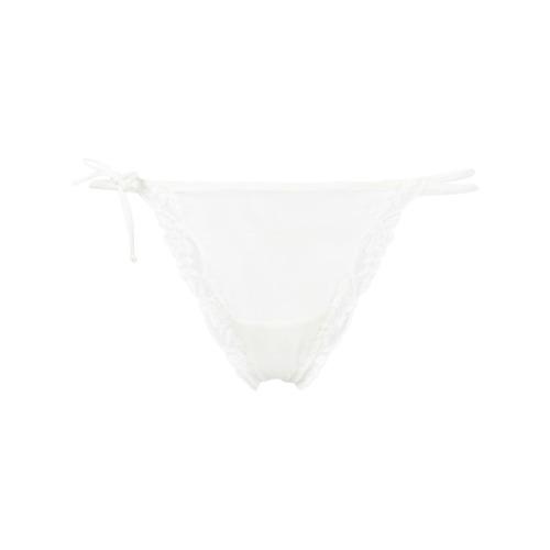 Imagen principal de producto de Emporio Armani tanga con ribete de encaje - Blanco - Emporio Armani
