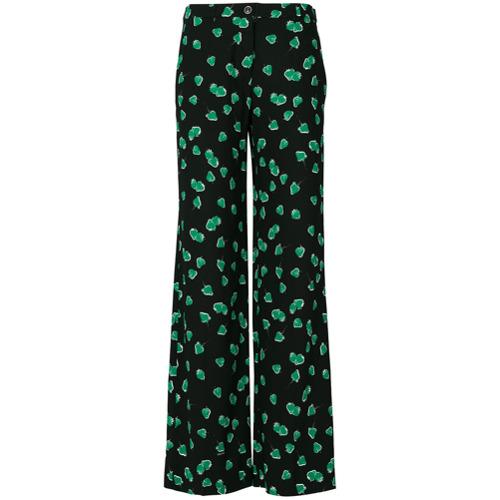 Imagen principal de producto de Miu Miu pantalones con estampado de fresas - Negro - Miu Miu