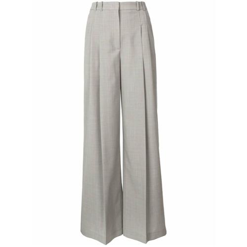 Imagen principal de producto de Jil Sander Navy pantalones anchos con talle alto y pinzas - Gris - Jil Sander Navy