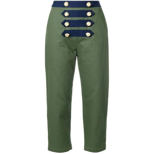Imagen principal de producto de Manoush pantalones capri marineros - Verde - Manoush